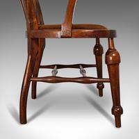 Antique Captain's Chair, English, Mahogany, Armchair, Seat, Edwardian c.1910 (3 of 12)