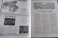 1909 Versailles French Journal.   William Morris Advert.  Folio Sized Coloured Plates (3 of 4)