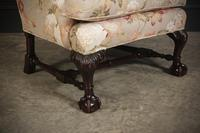 Chippendale Style Floral Upholstered Wing Chair (3 of 16)