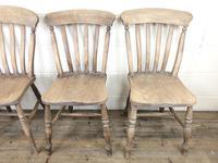 Four 19th Century Farmhouse Kitchen Chairs (3 of 12)