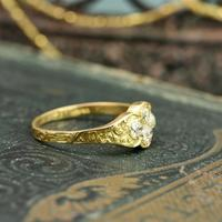 The Late Victorian Spencer of Charlotte 1892 Four Diamond Memory Ring (4 of 10)
