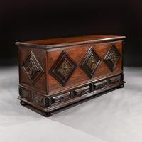 Imposing 17th Century Portuguese Colonial Mahogany & Brass Chest (7 of 8)