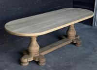 Large French Bleached Oak Monastery Dining Table (4 of 18)