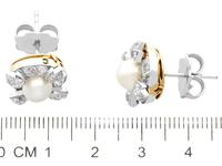 4.08ct Diamond & Pearl, 12ct Yellow Gold Earring & Ring Set - Antique c.1870 (9 of 15)