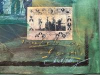 'Classical Golf' - Beautiful Signed Original 20thc Mixed Media Abstract Painting (5 of 11)