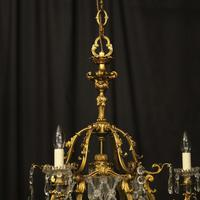 French Gilded Bronze Antique Chandelier (8 of 10)