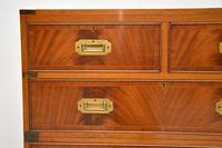 Antique Mahogany  Military Campaign Chest of Drawers (6 of 11)