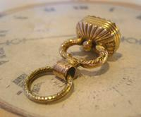 Georgian Pocket Watch Chain Fob 1830s Antique Large Gilt & Intaglio Stone Set Fob (3 of 11)