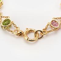 Antique Edwardian Pink Tourmaline Pearl and Peridot Bracelet Circa 1900's (4 of 8)