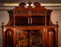 Rosewood Corner Display Cabinet by Gillows (8 of 14)
