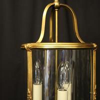 French Gilded Triple Light Antique Lantern (8 of 10)