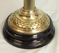 Antique Victorian Oil Lamp Green Font (8 of 8)
