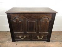 19th Century Welsh Oak Coffer Bach (M-550) (2 of 9)