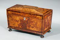 Regency Period Burr Yew Shaped Box