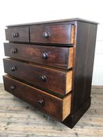 Victorian Oak Straight Front Chest of Drawers (6 of 7)