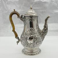 George IV Sterling Silver Coffee Pot London 1824 Timothy Smith & Thomas Merryweather (7 of 12)