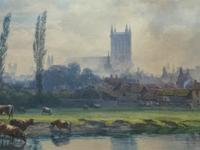 St Johns College, Cambridge 'John Henry Leonard' (1834-1904) Landscape Painting (3 of 12)