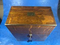 Victorian Brassbound Oak Decanter Box (9 of 20)
