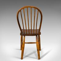 Antique Stick Back Chair, English, Elm, Beech, Station Seat, Victorian c.1870 (10 of 12)