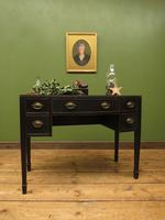 Antique Black Painted Console Table or Desk with Drawers, Gothic Shabby Chic (16 of 16)