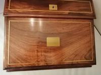 19th Century Mahogany & Olive Wood Shallow Writing Slope (3 of 8)