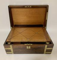 Superb Antique Victorian Rosewood Brass Bound Writing Slope Box (7 of 15)