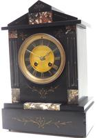 Antique French Slate & Marble Mantel Clock 8 Day Striking Mantle Clock (2 of 10)