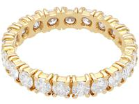 1.95ct Diamond & 18ct Yellow Gold Full Eternity Ring - Vintage French c.1980 (4 of 9)
