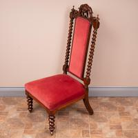 19th Century Walnut Barley Twist Prie Dieu Chair (10 of 15)