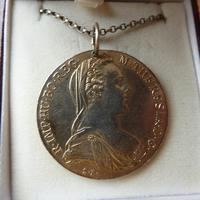 Silver 1780 Maria Theresa Thaler Coin Necklace