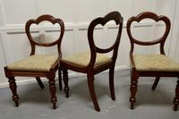 4 Victorian Mahogany Balloon Back Dining Chairs (6 of 6)