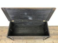 Early 20th Century Panelled Oak Coffer (3 of 8)