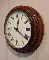 Solid Oak School Wall Clock (2 of 3)