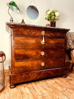 French Antique Drawers / Louis Philippe Commode / Mahogany Chest of Drawers (4 of 7)