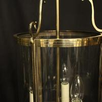French Set of 3 Convex Antique Hall Lanterns (4 of 10)