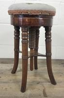 Antique Victorian Walnut Piano Stool (8 of 9)