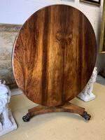 19th Century Rosewood Round Centre Table (6 of 8)