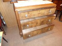 Nice 3 Drawer Oak Chest with Burr Walnut Facings (3 of 6)