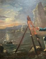 Late 18th Century 'British School' Original Oil Portrait Painting of a Shoreline Artist (3 of 12)