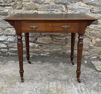 Antique Victorian Walnut Writing Table Desk (2 of 17)