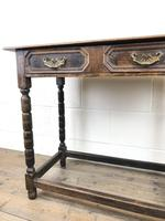 Antique Oak Side Table with Geometric Drawers (9 of 10)