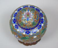 Antique Champleve Cloisonne Lidded Jar on Stand (5 of 7)