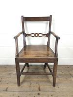 19th Century Welsh Oak Ball & Rail Back Chair (2 of 9)