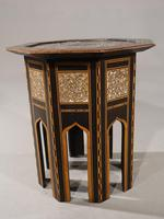 Early 20th Century Syrian Hardwood & Mother of Pearl Octagonal Table (2 of 5)