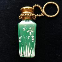 19th Century Jade Green, Mary Gregory Style Scent Bottle c.1890 (5 of 6)