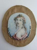 Artist Anthony Vandyke Copley Fielding Miniature of Alice Birket Foster (2 of 11)