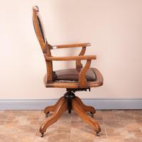 Teak Revolving Office Desk Chair (3 of 17)