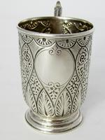 Victorian Silver Christening Mug with a Floral Scroll Handle (2 of 6)