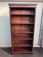 Tall English Mahogany Open Library Bookcase (2 of 10)