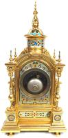 Incredible Antique French Champlevé Ormolu Bronze 8 Day Striking Mantel Clock c.1860 (9 of 13)